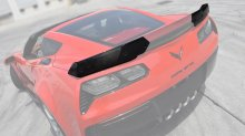 Stage-2 Side Extensions for Z06 rear spoiler | Carbon Fiber