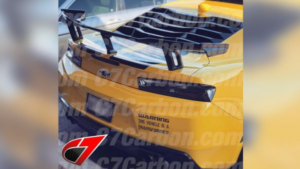 2016-Up Camaro | ZL1 1LE style Rear Wing | Carbon Fiber