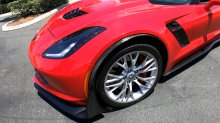 C7 Corvette | Z06/GS Front Fender Spats Moldings | Carbon Flash