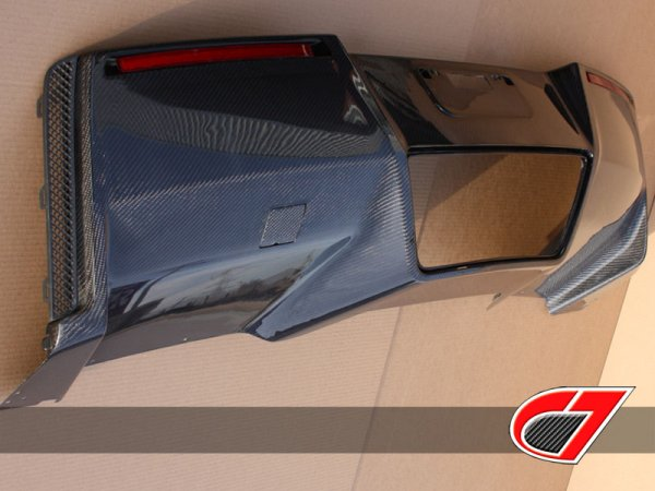 C7 Corvette OEM Carbon Fiber Rear Diffuser with Exhaust Shield
