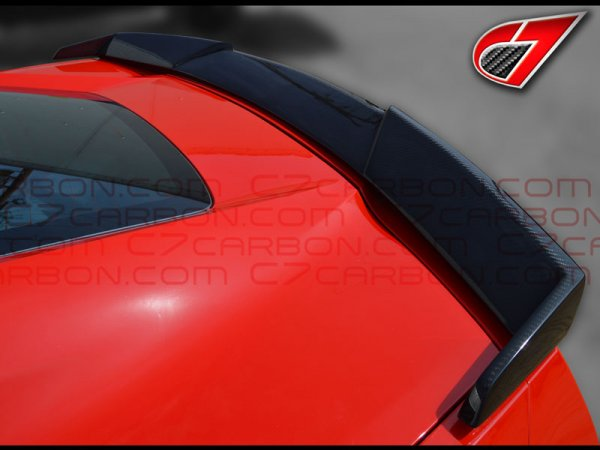 C7 Corvette Stingray, GTX Rear spoiler | Carbon Fiber