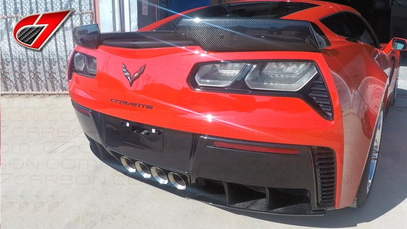 C7 Race Edition Under Tray for OEM Rear Diffuser | Carbon Flash
