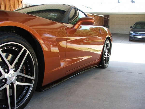 Base C6 | ZR1 style Side skirt set with mudflaps | Fiberglass