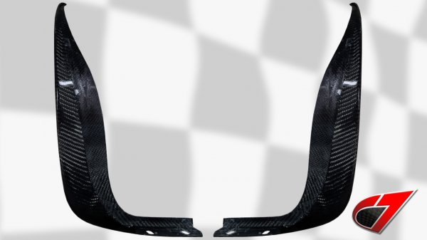 ZR1 / Z06 / GS Rear Mudflaps - Rear section | Carbon Fiber