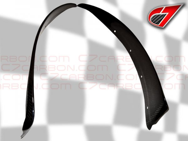 BASE C6 | Front Fender - Rear section Mudflaps | Carbon Fiber