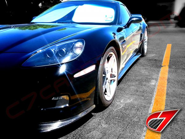 Corvette ZR1 EXTENDED Side skirts with mudflaps | GLOSS BLACK