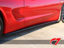ZR1 style side skirts for C5 with Mudflaps | Carbon Fiber