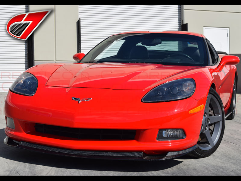 2005-2013 Front splitter for Standard C6 Corvette | Carbon Fiber