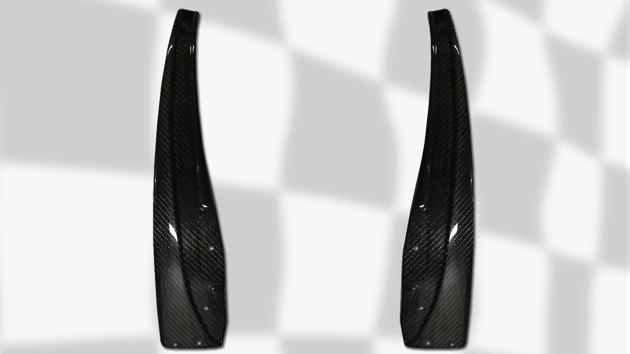 ZR1 style Carbon Fiber Rear Mudflaps FOR BASE C6 - MUDFLAPS