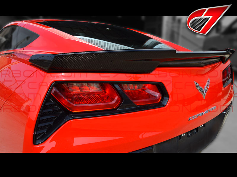 C7 Corvette Stingray, GTX Rear spoiler | Fiberglass