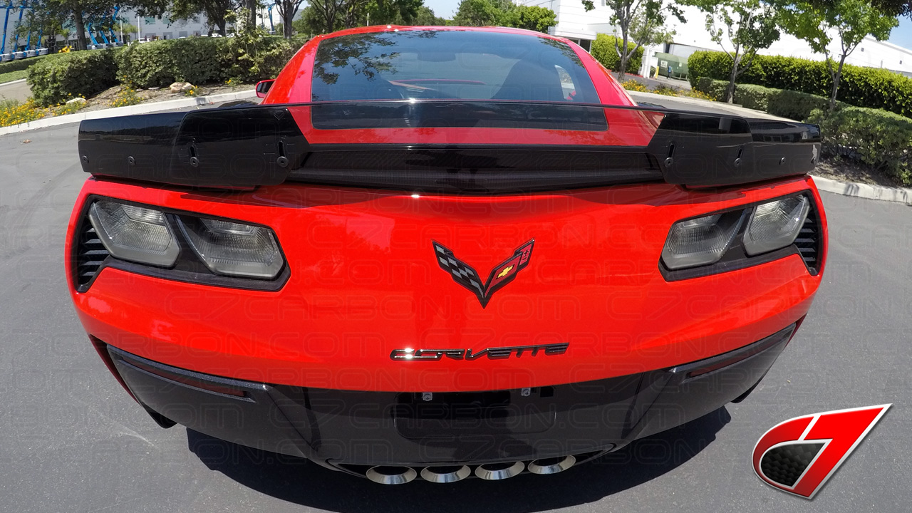 c7 corvette z06 z06 z07 rear spoiler carbon fiber c7 ccc7z z06 rs cf c7 carbon. Black Bedroom Furniture Sets. Home Design Ideas