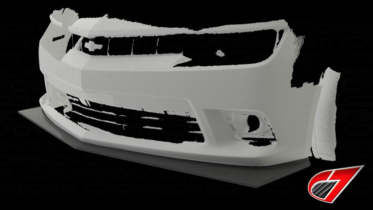 Gen 5 Camaro Zl28 Style Front Splitter Carbon Fiber