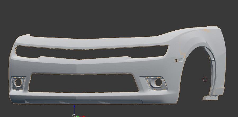 Camaro wide body front fenders +1 : C7 Carbon Fiber